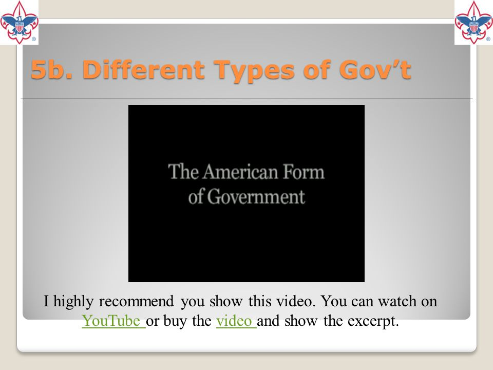 5b. Different Types of Gov't