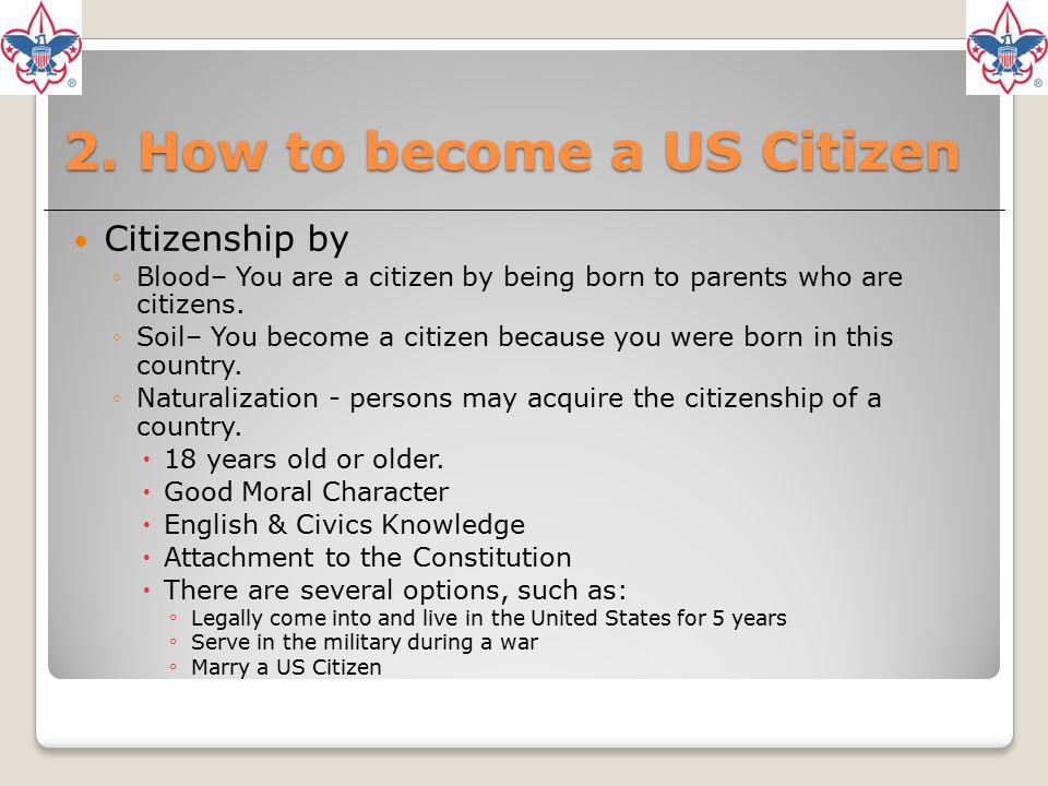 2. How to become a US Citizen