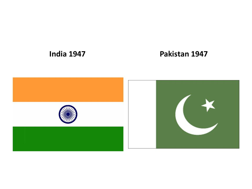 India 1947 Pakistan 1947