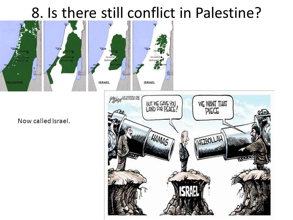 8. Is there still conflict in Palestine