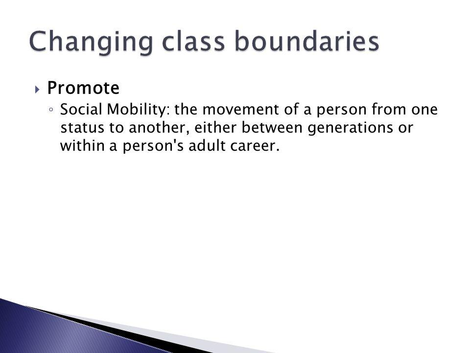 Changing class boundaries