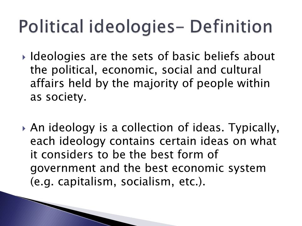 political ideology and other factors leading