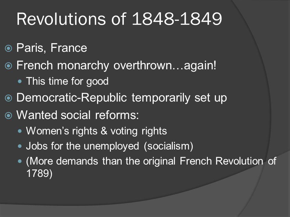 Revolutions of 1848-1849 Paris, France