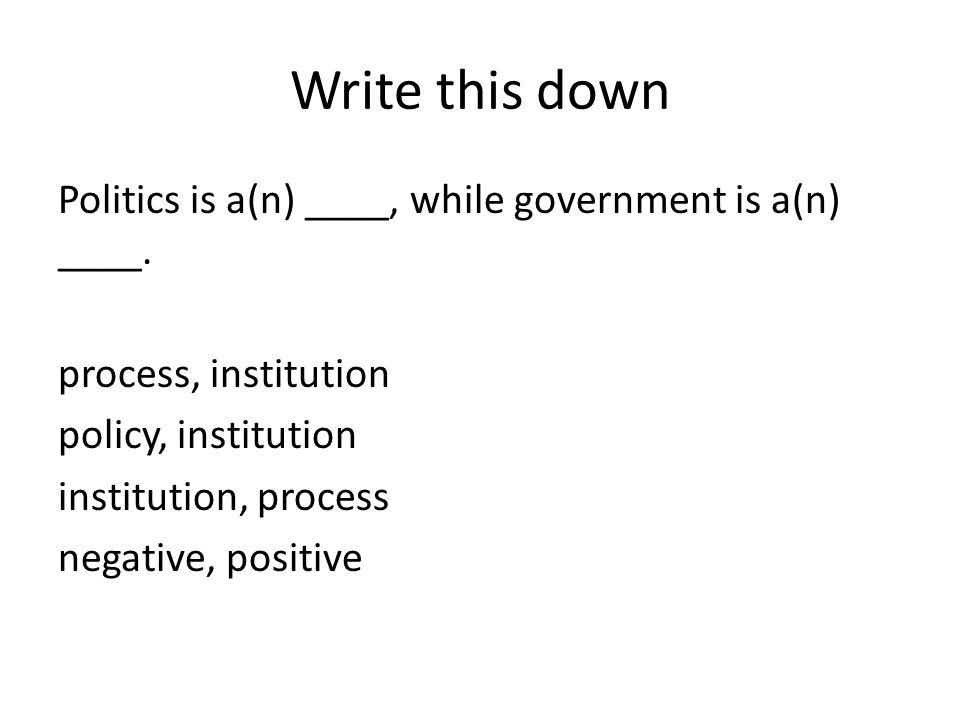 Write this down