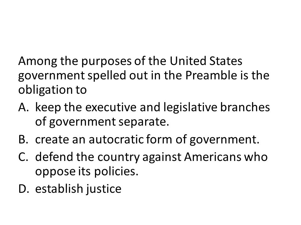 keep the executive and legislative branches of government separate.