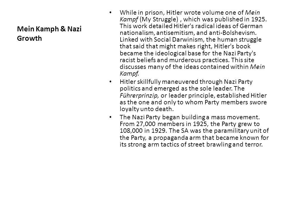 Mein Kamph & Nazi Growth