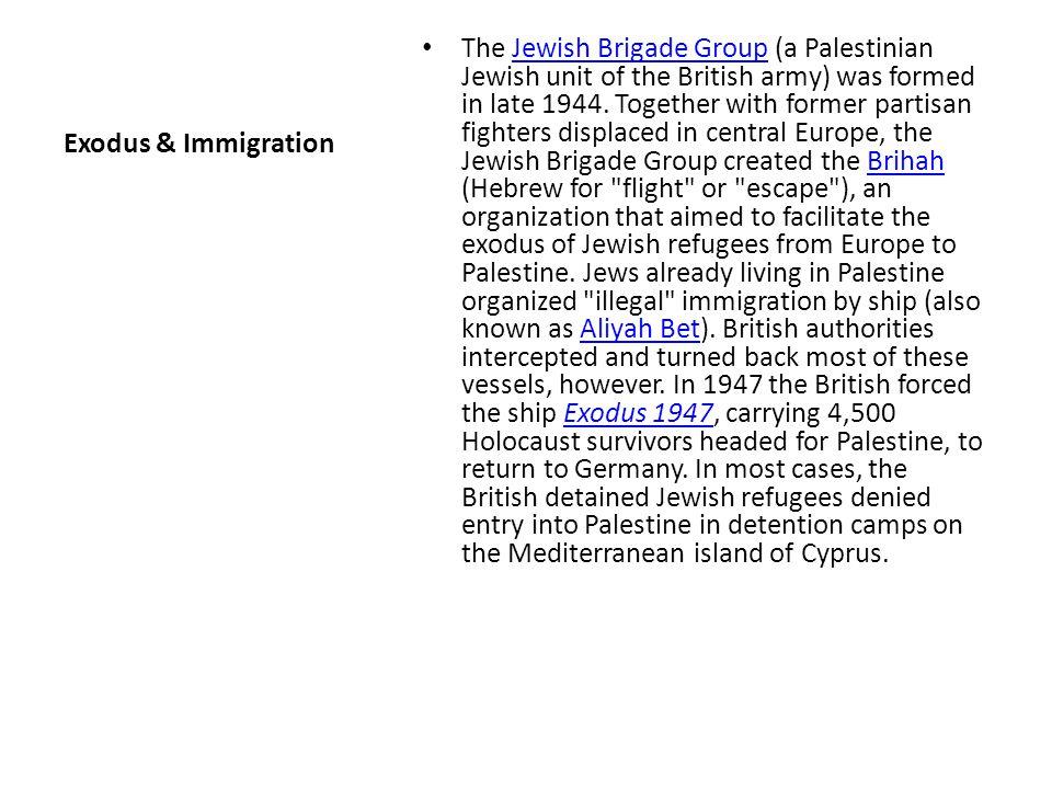 Exodus & Immigration