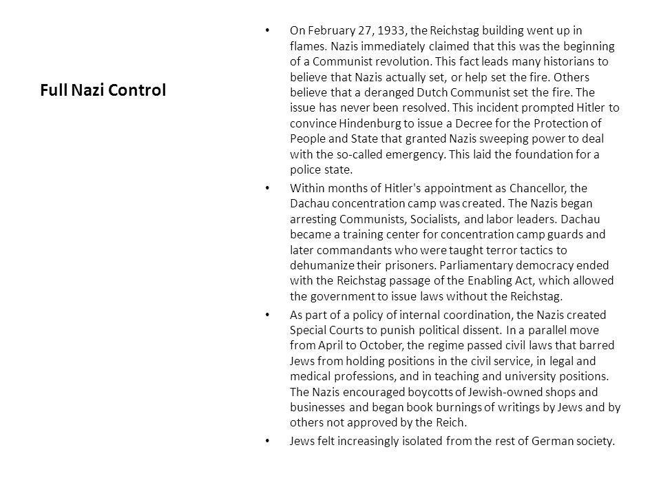 Full Nazi Control