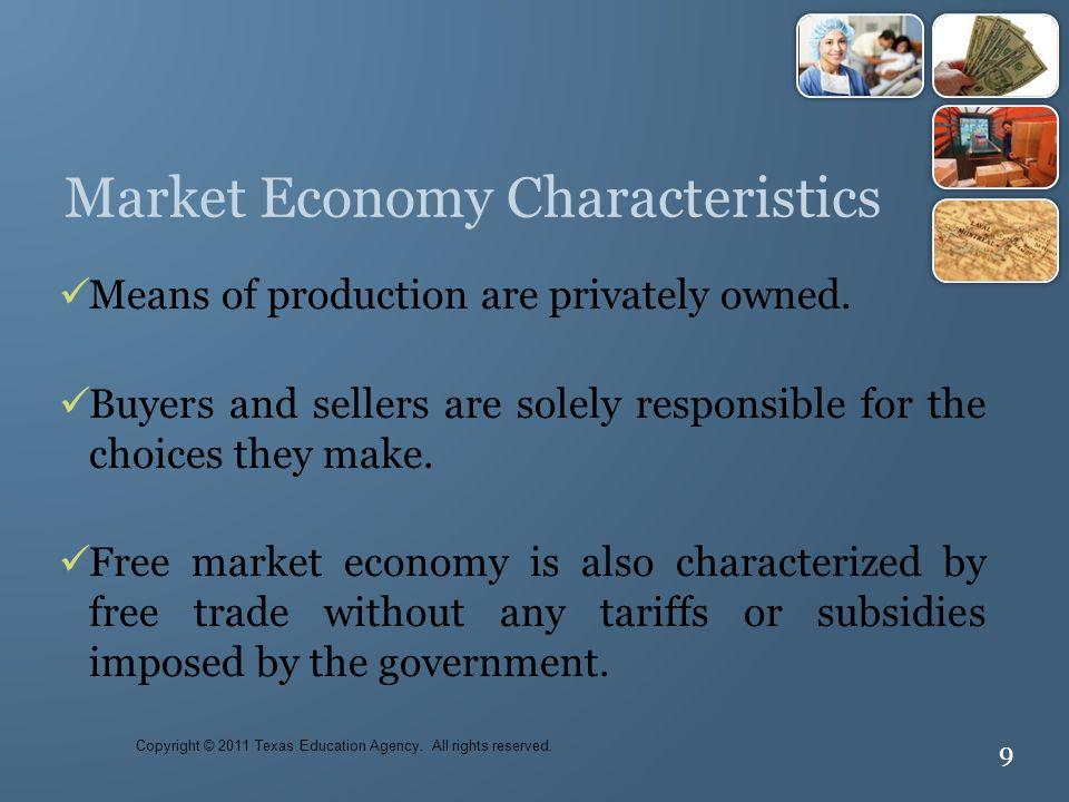 Market Economy Characteristics