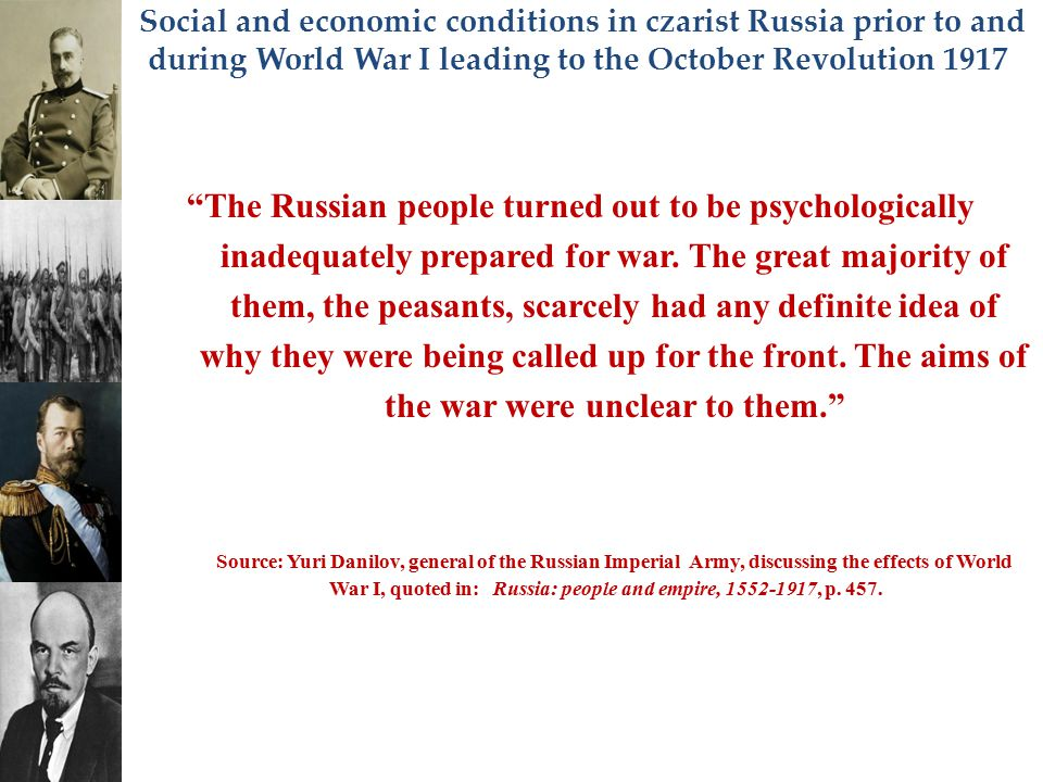 The Russian people turned out to be psychologically