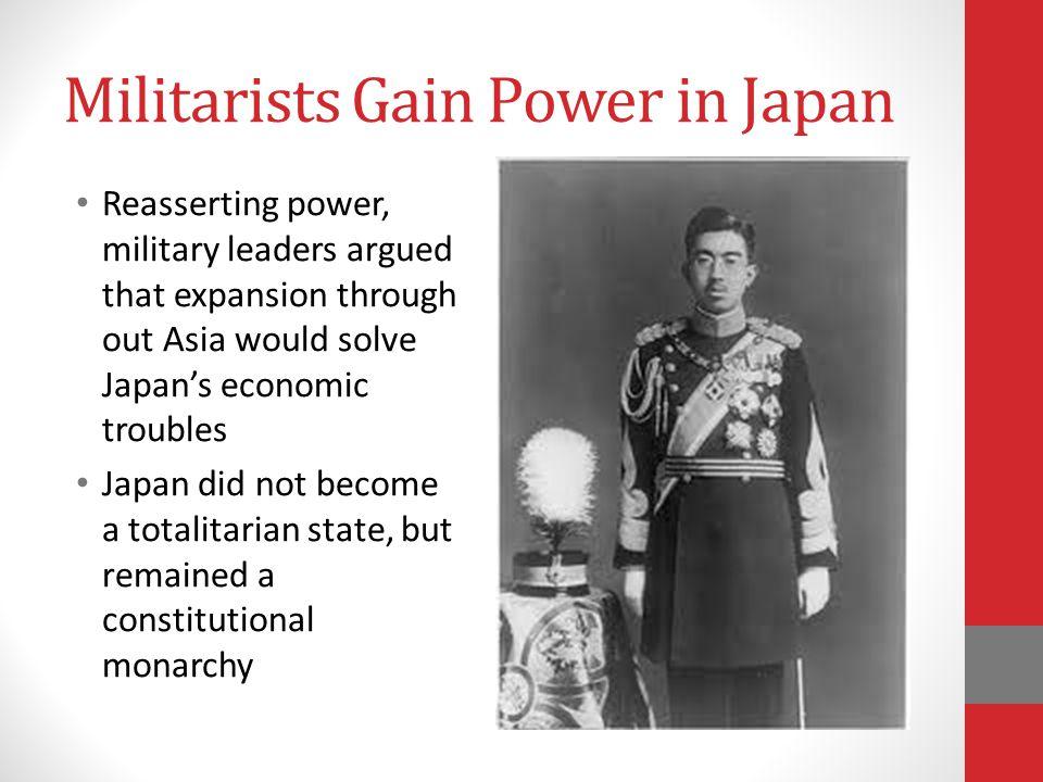 Militarists Gain Power in Japan