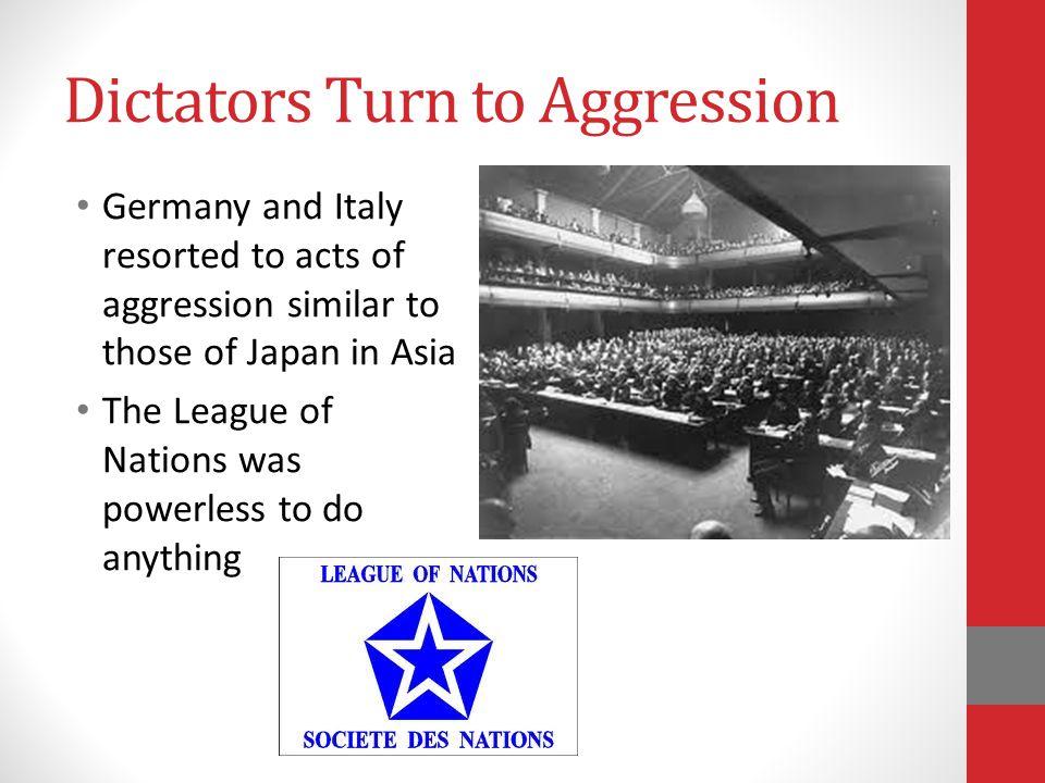 Dictators Turn to Aggression
