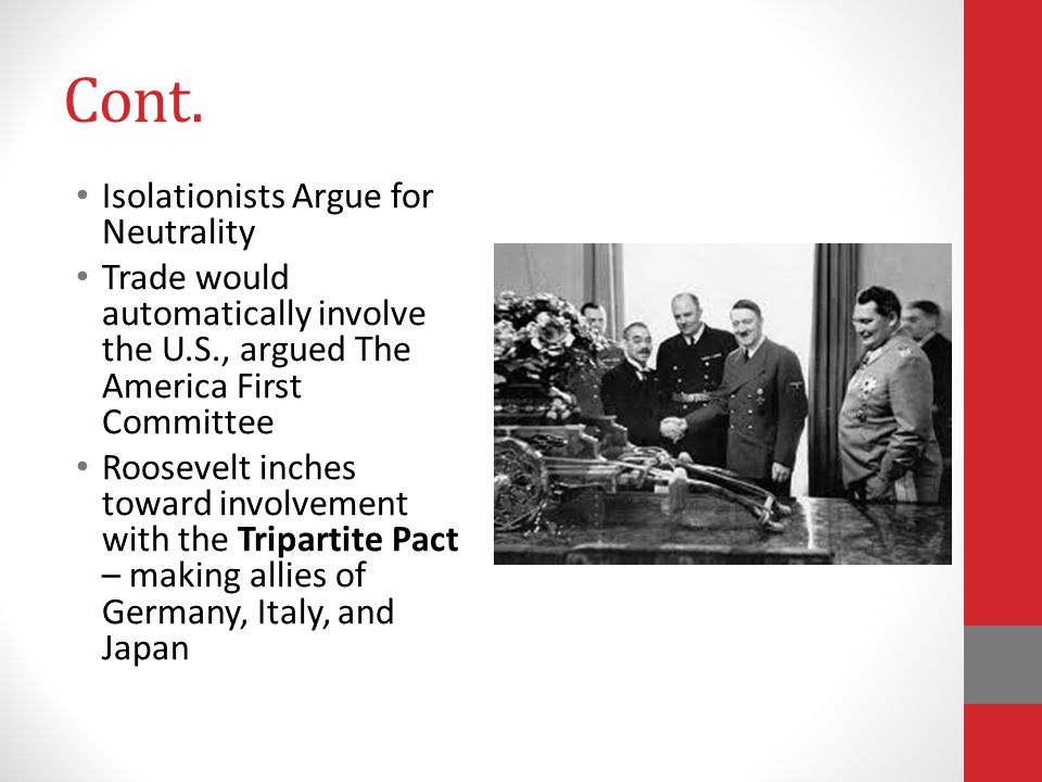 Cont. Isolationists Argue for Neutrality