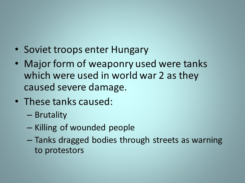 Soviet troops enter Hungary