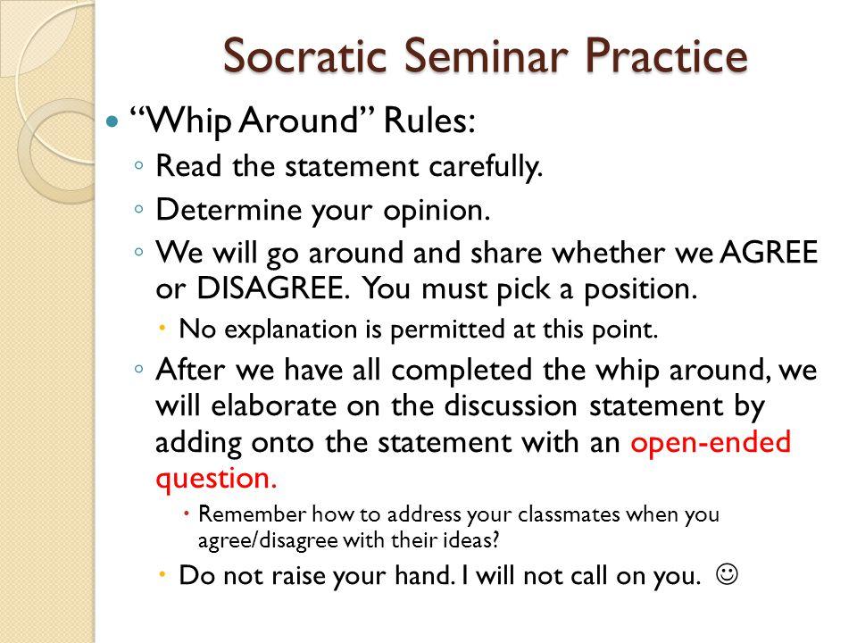 Socratic Seminar Practice