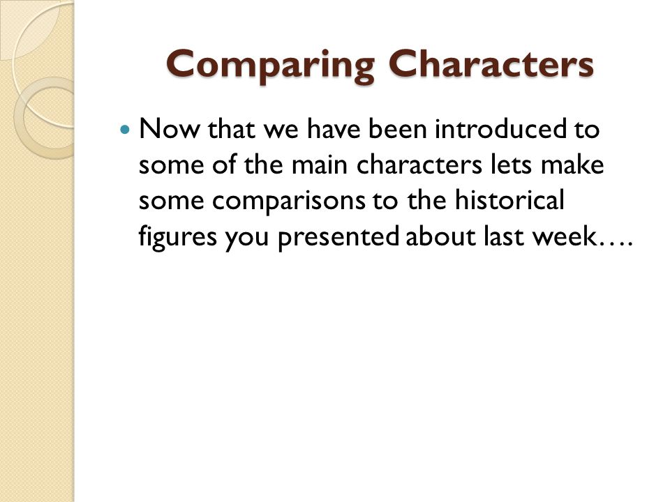 Comparing Characters