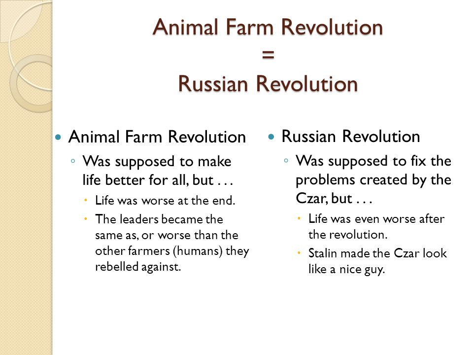 comparing animal farm and russian revolution