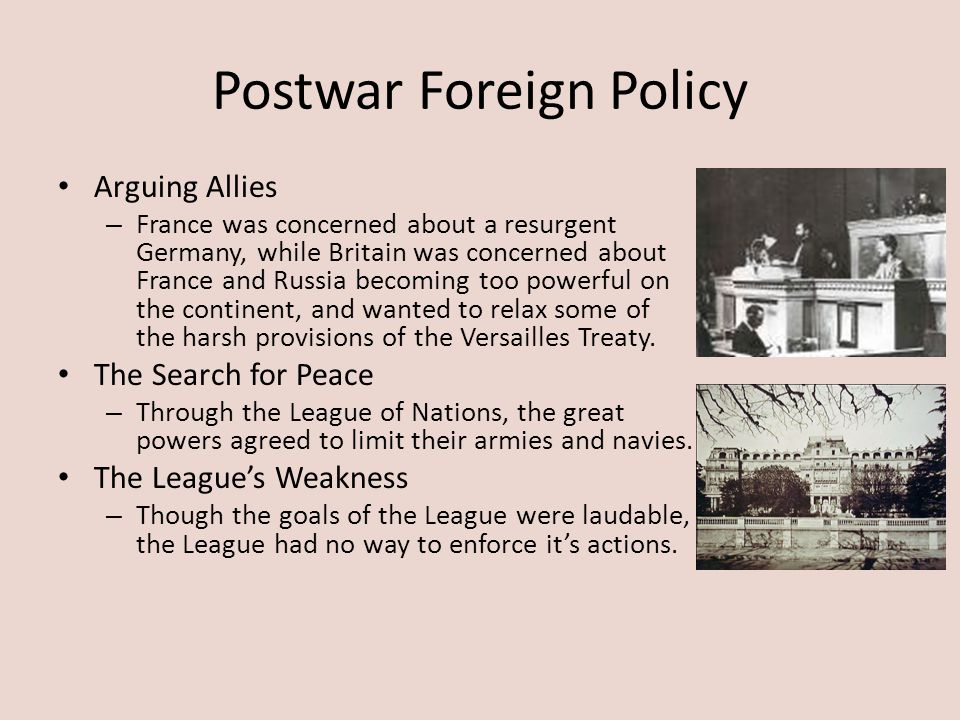 Postwar Foreign Policy