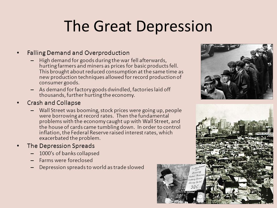 The Great Depression Falling Demand and Overproduction
