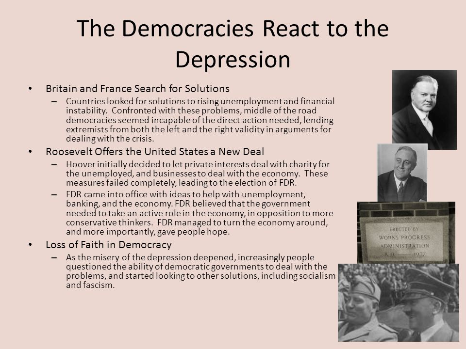 The Democracies React to the Depression