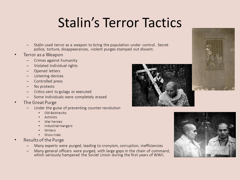 Stalin's Terror Tactics