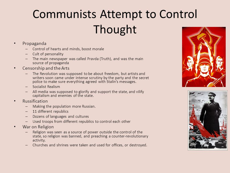 Communists Attempt to Control Thought