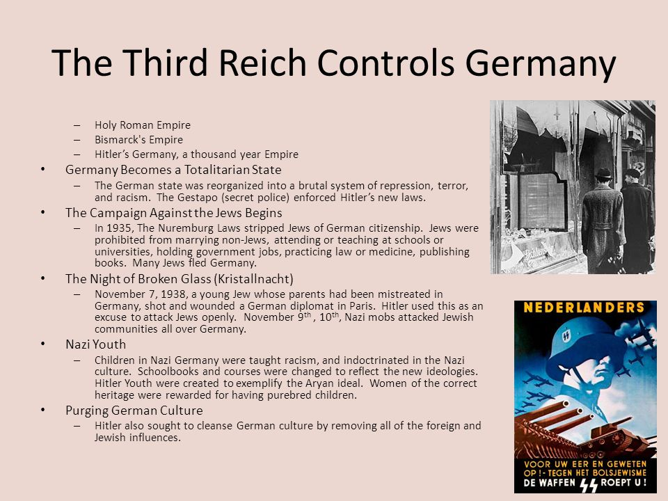The Third Reich Controls Germany