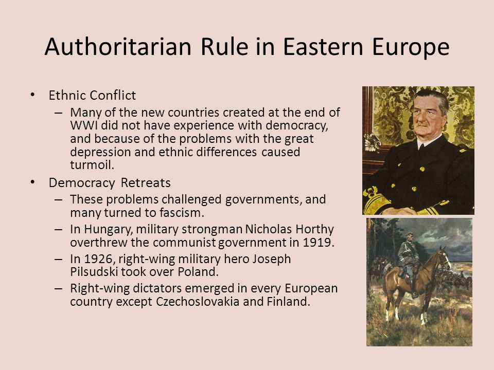 Authoritarian Rule in Eastern Europe
