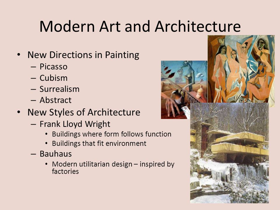 Modern Art and Architecture