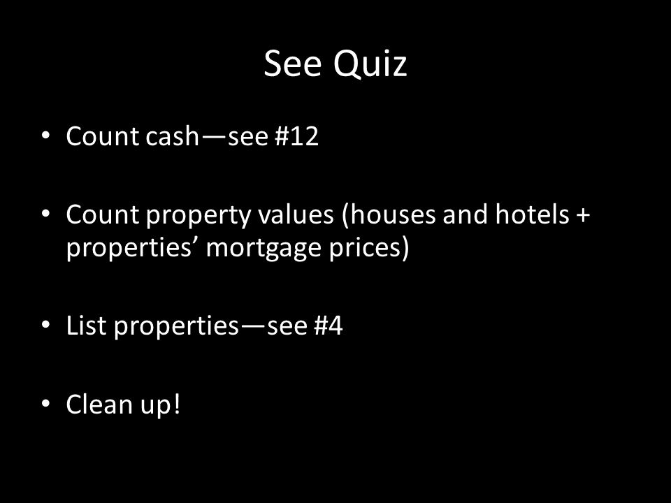 See Quiz Count cash—see #12