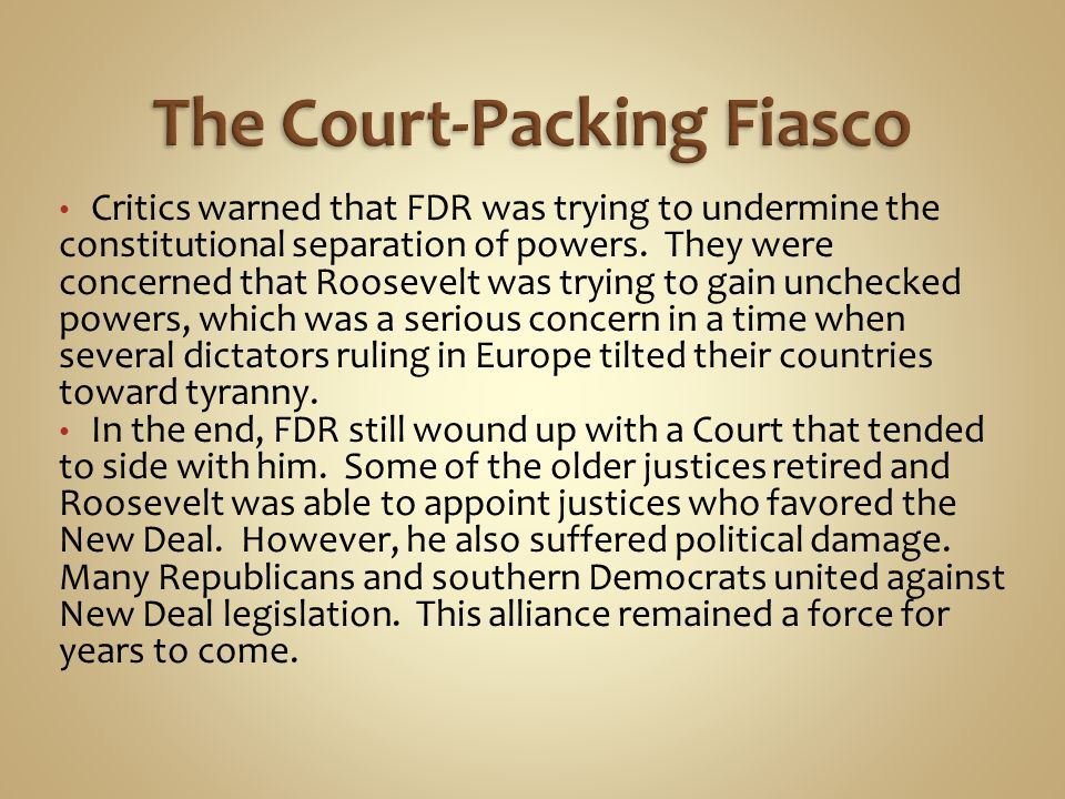 The Court-Packing Fiasco