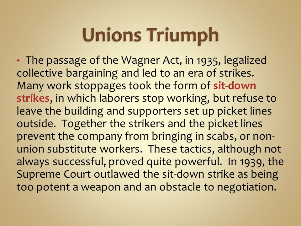 Unions Triumph