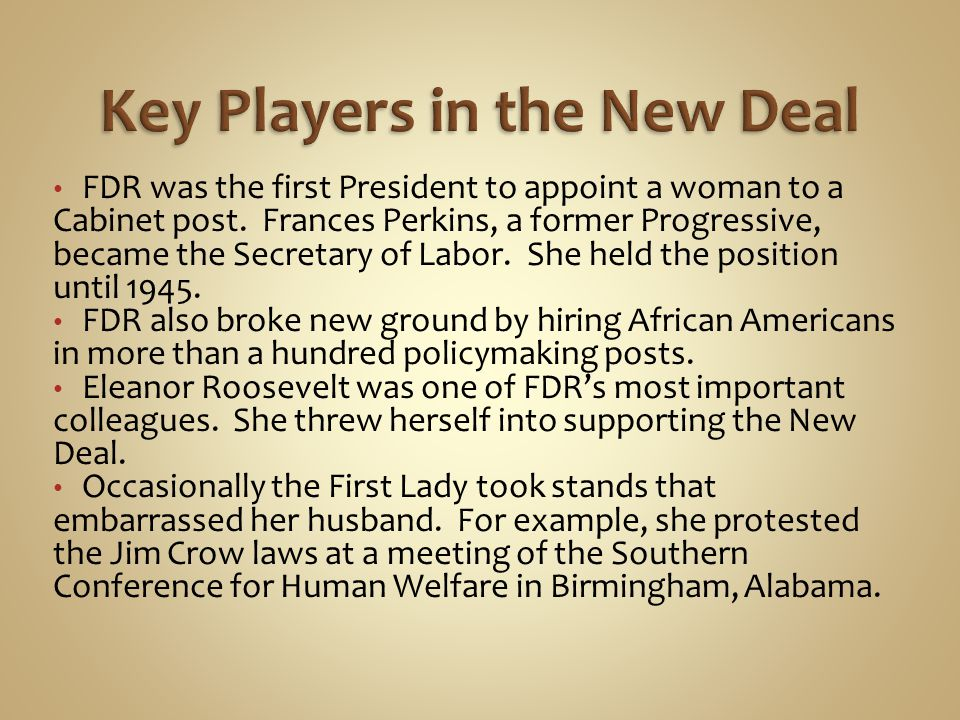 Key Players in the New Deal