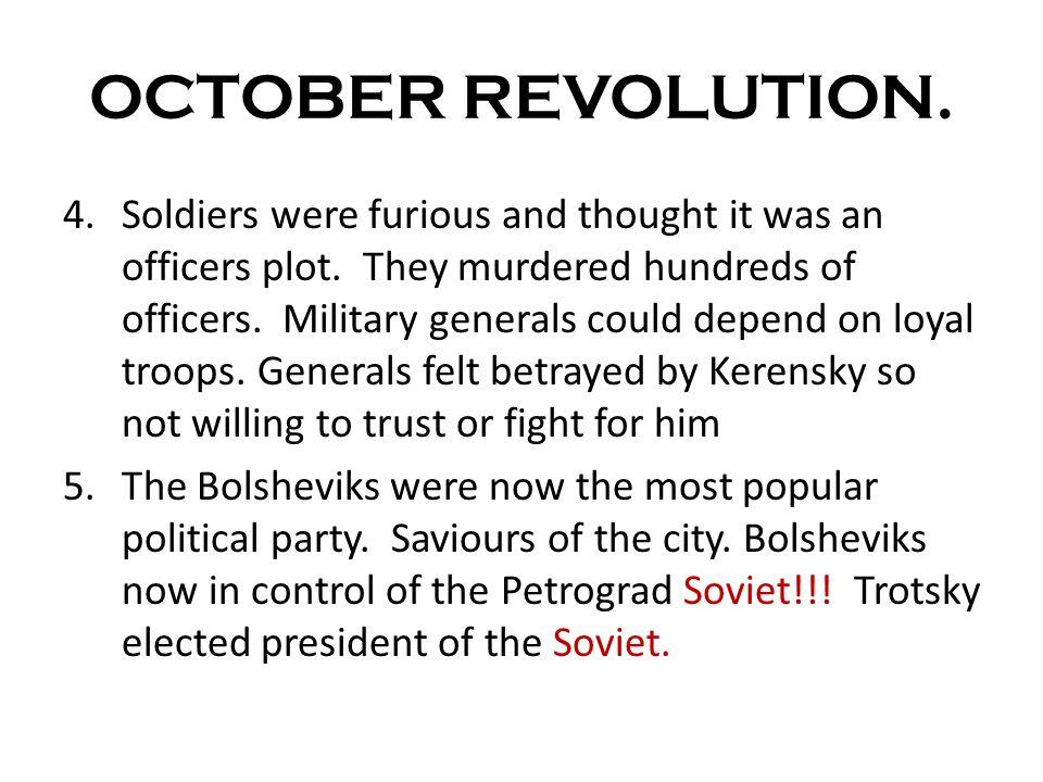 OCTOBER REVOLUTION.