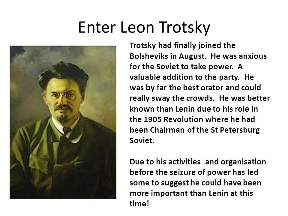 Enter Leon Trotsky