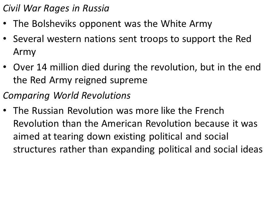 Civil War Rages in Russia