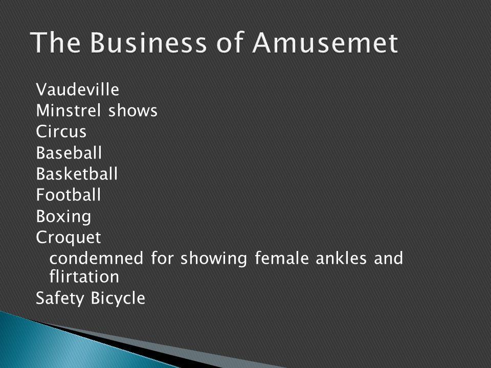 The Business of Amusemet
