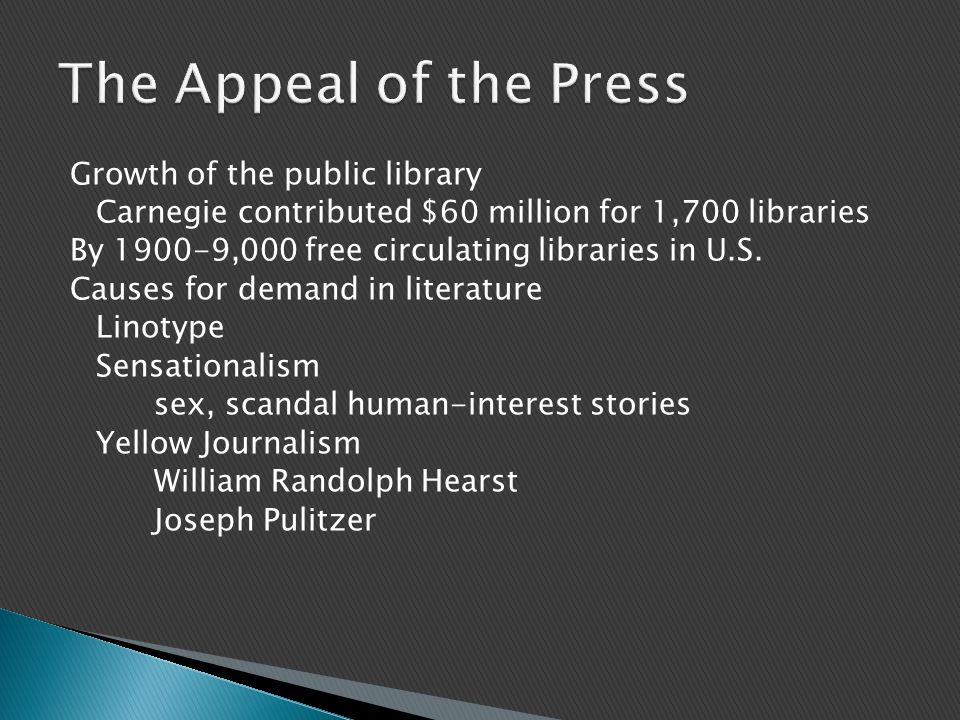 The Appeal of the Press
