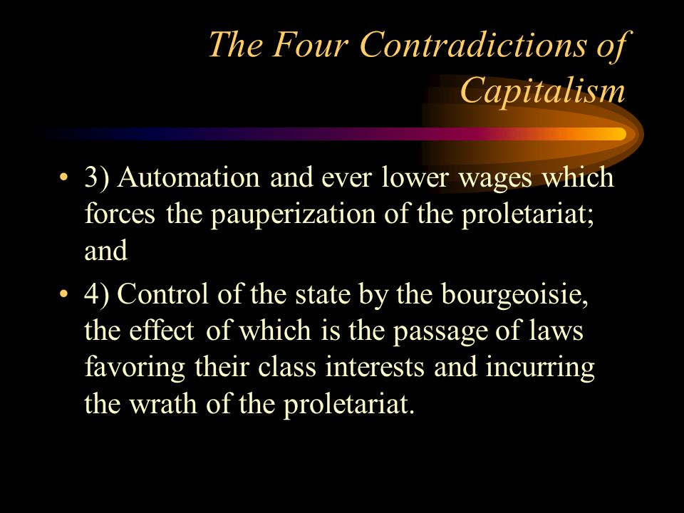 The Four Contradictions of Capitalism