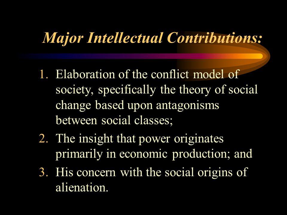 Major Intellectual Contributions: