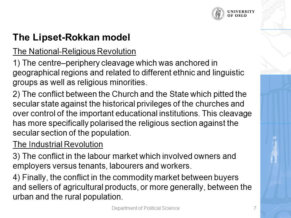 The Lipset-Rokkan model