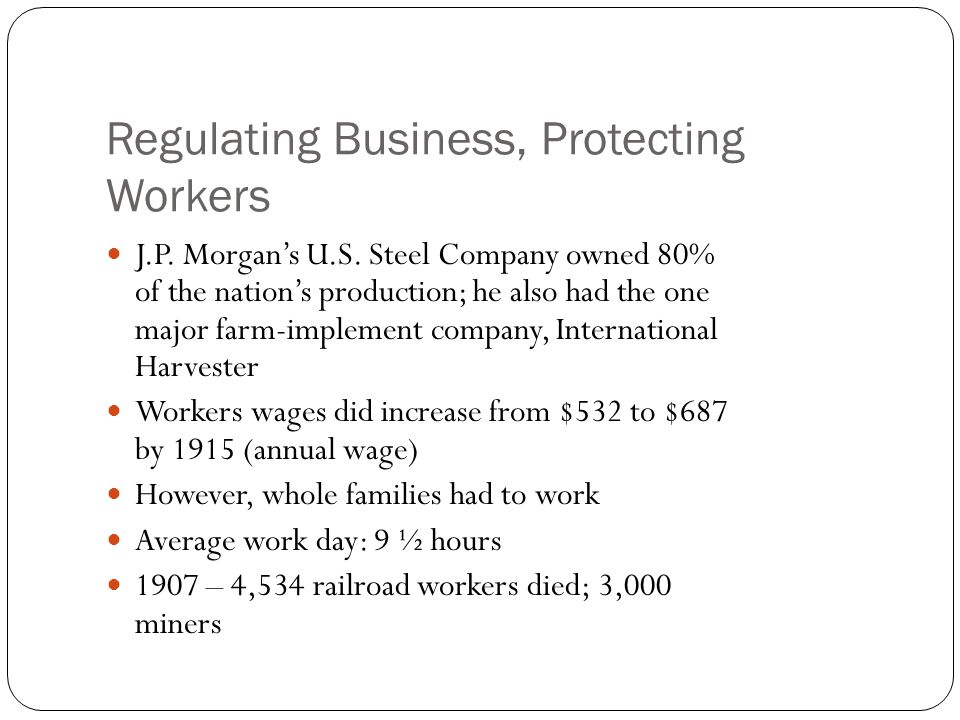 Regulating Business, Protecting Workers