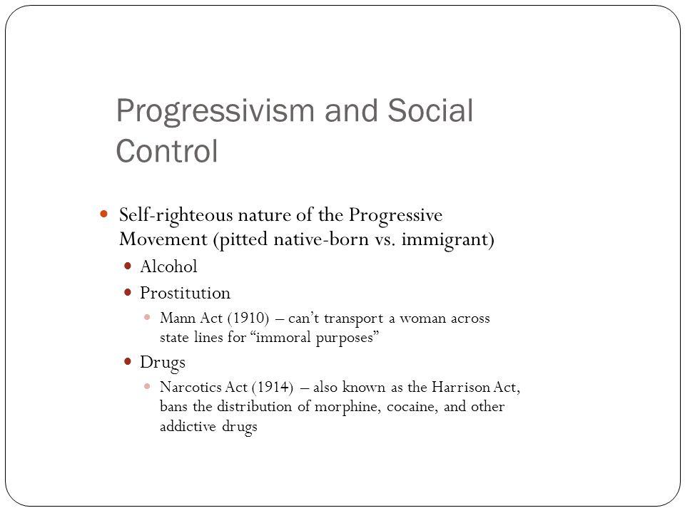 Progressivism and Social Control