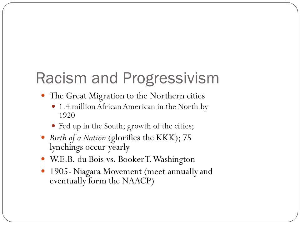 Racism and Progressivism