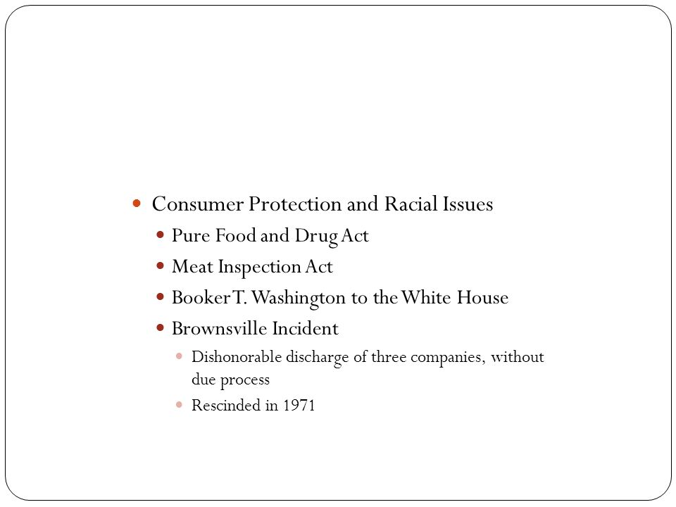 Consumer Protection and Racial Issues