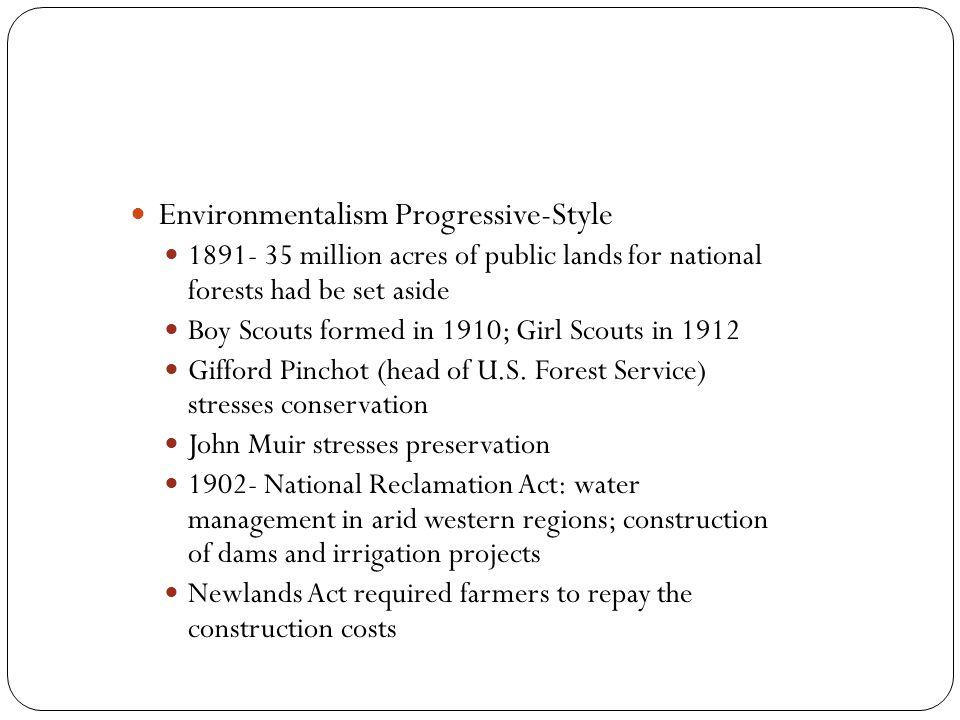 Environmentalism Progressive-Style