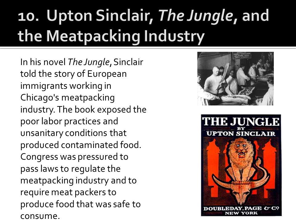 10. Upton Sinclair, The Jungle, and the Meatpacking Industry