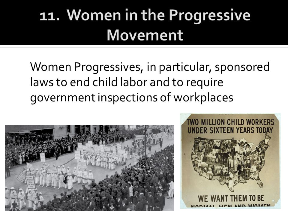 11. Women in the Progressive Movement