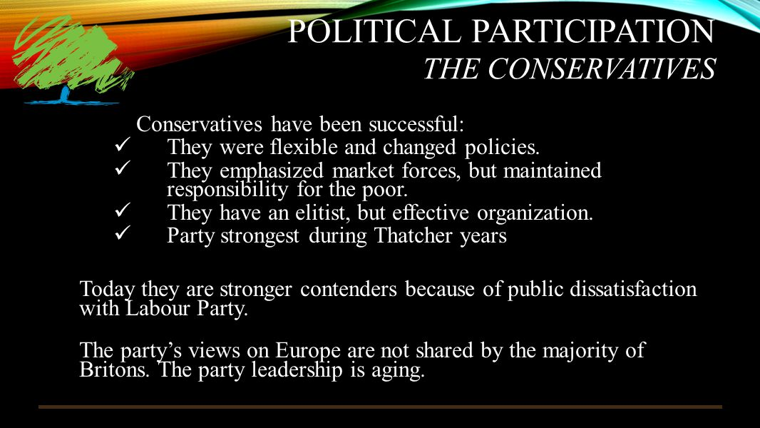 Political Participation The Conservatives
