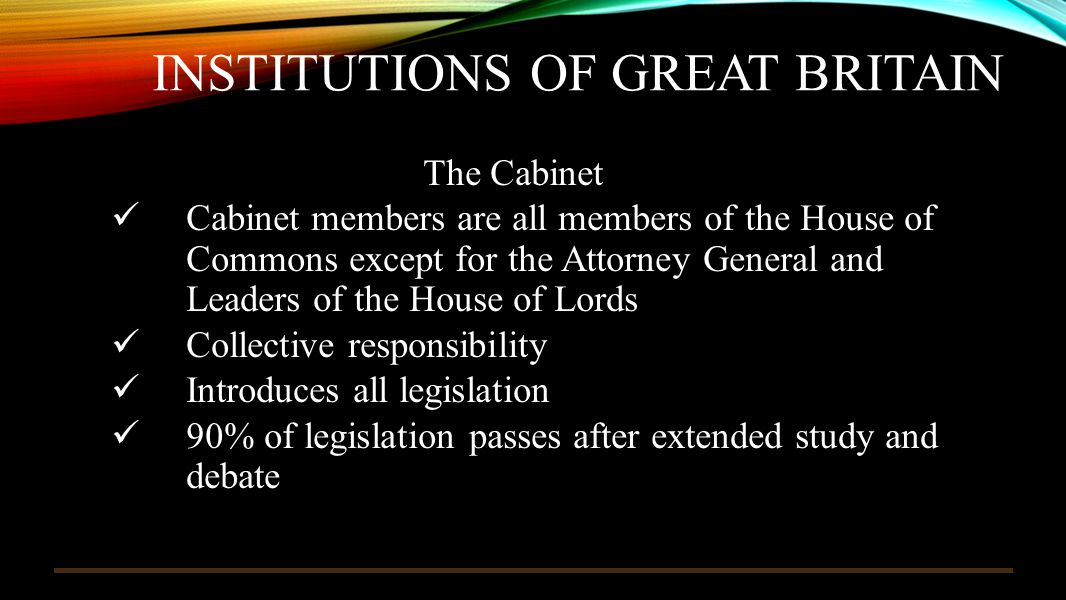 Institutions of great britain